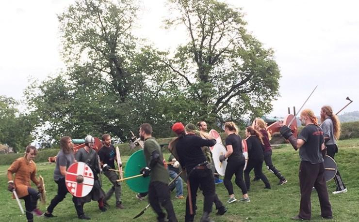 Batalla vikinga en Oslo