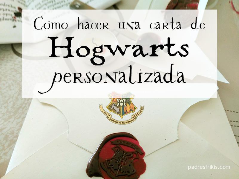 Carta de Hogwarts personalizada
