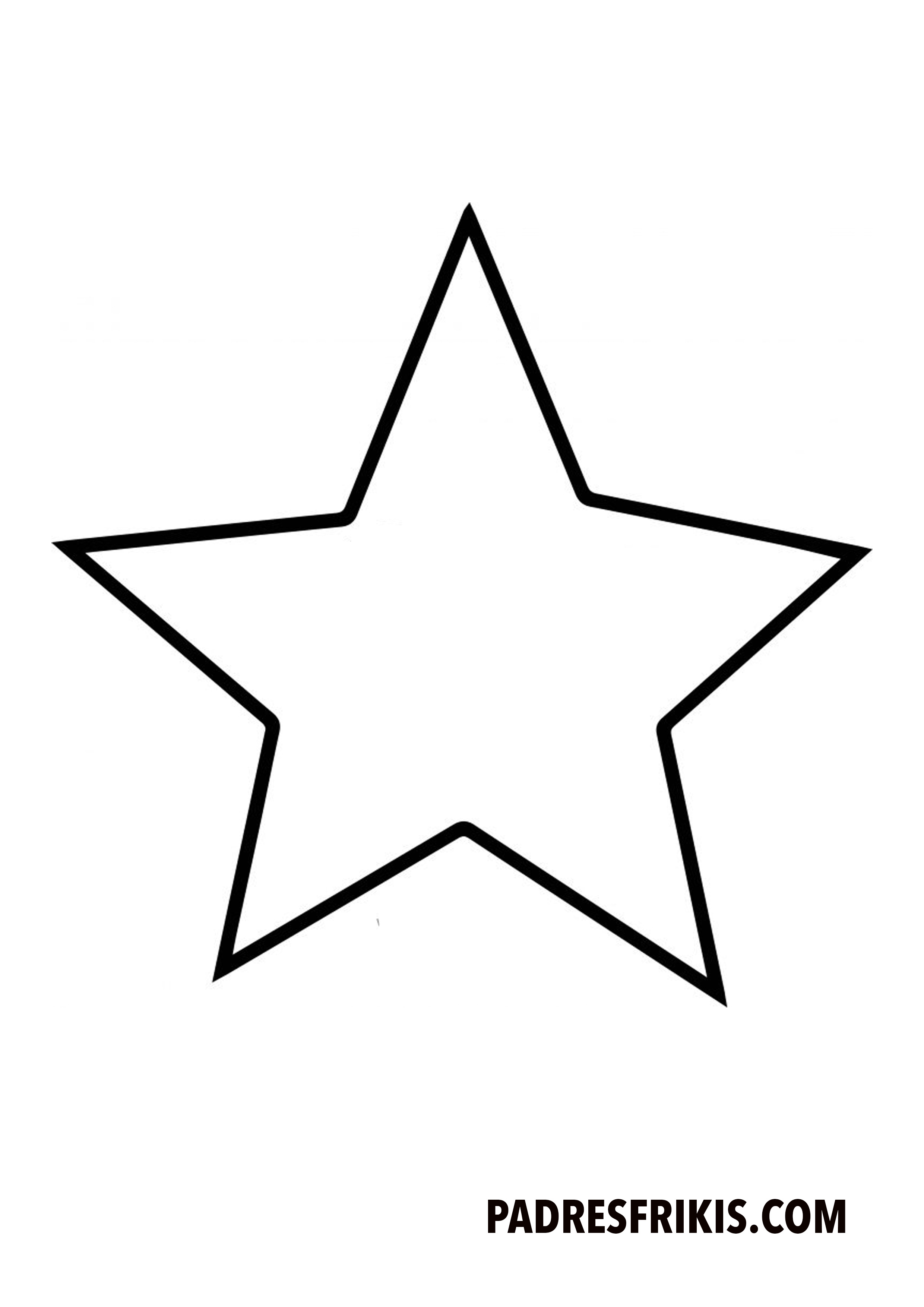 Plantillas De Estrellas Para Colorear E Imprimir Padres Frikis