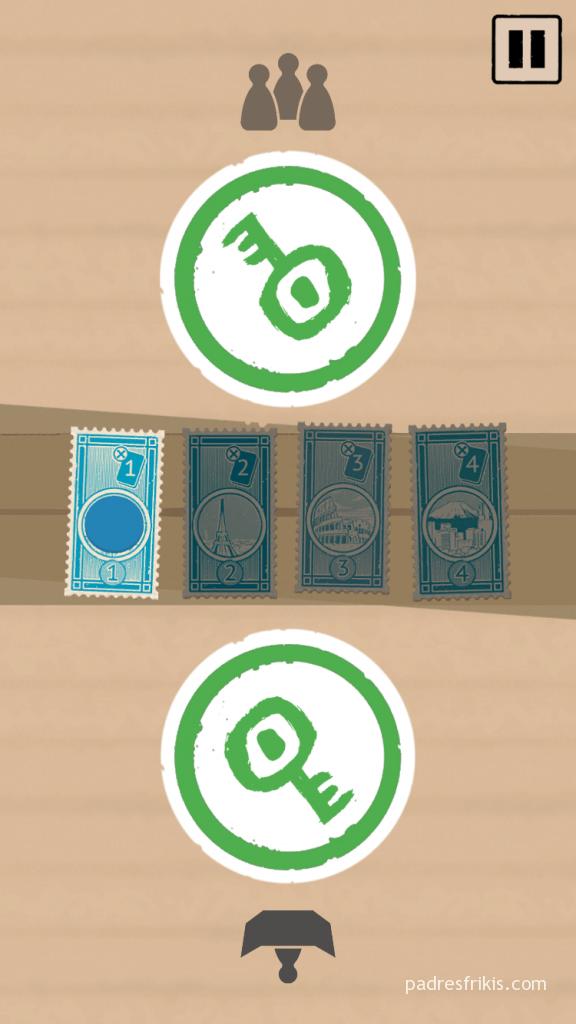 En la App, cada uno pulsa en la llave verde cuando termina su acción