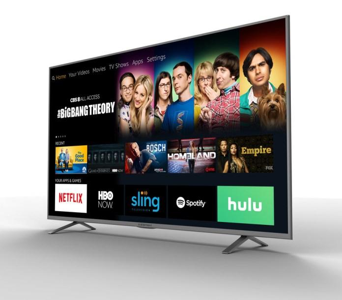 An image of a TV running Alexa