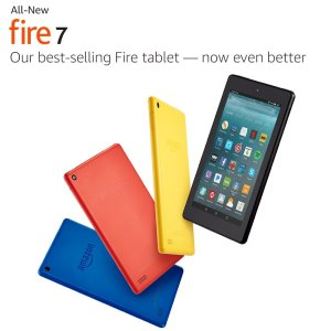 An image with different colored Fire Tablets