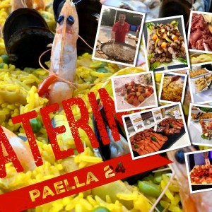 Collage Paella Live Catering