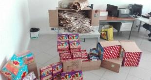 Castel Volturno – Sequestrati 35 kg di fuochi d'artificio illegali, tre persone denunciate