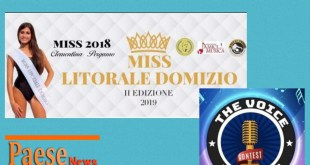 Sessa Aurunca – Miss Litorale Domizio 2019 e The Voice in Tour: tornano le kermesse artistiche dell'estate aurunca