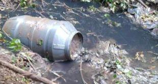Sessa Aurunca – Disastro ambientale a Carano, acque del rio Carapiello scure e maleodoranti