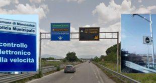 Marcianise – Tutor attivi sulla strada provinciale, è polemica sui social