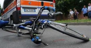 Vairano Patenora – Ciclista investito da un Tir, paura lungo via Abruzzi