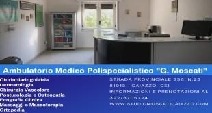 CAIAZZO – CENTRO MEDICO POLISPECIALISTICO, NASCE A CAIAZZO IL POLIAMBULATORIO MOSCATI