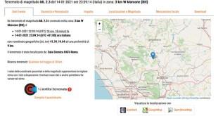 Morcone – Terremoto, nuova (piccola) scossa nel Sannio