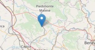 ALVIGNANO – Terremoto di magnitudo 2.1 nell'alto casertano