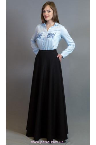 Черная юбка в пол.Купить длинную теплую юбку в магазине Пафос