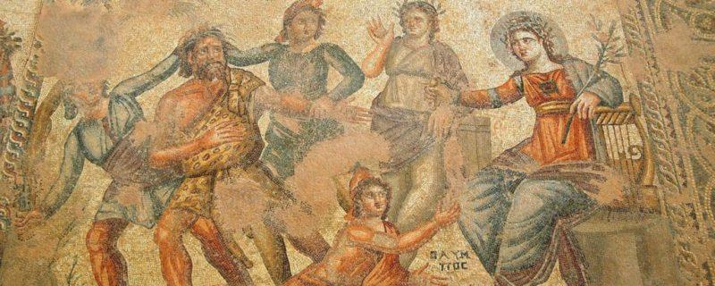 Ψηφιδωτό στην Πάφο που αναπαριστά τον Απόλλωνα.