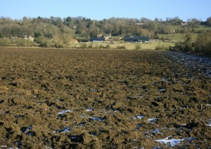 Ploughed_field_at_the_foot_of_Bowden_Hill_-_geograph.org.uk_-_1113026
