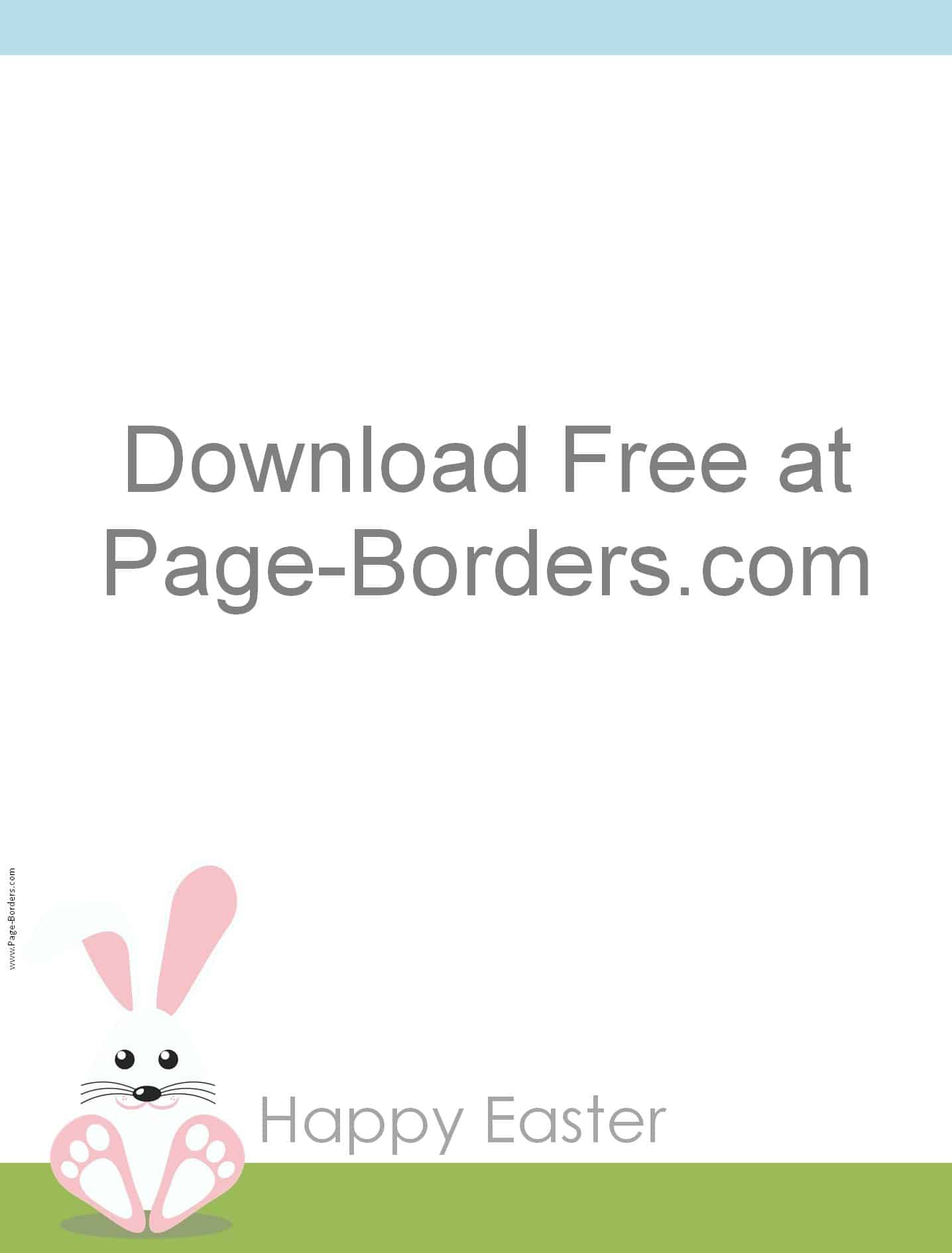Free Easter Border