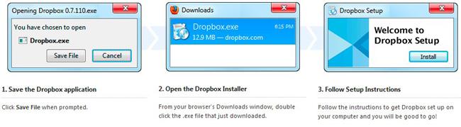 Create account in Dropbox