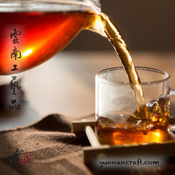 Light fermented shu puerh-color