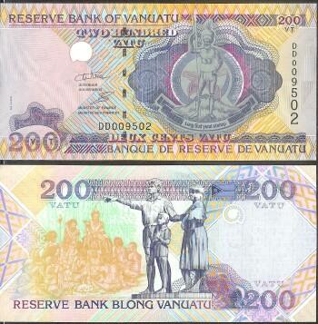 Vanuatu New 2011 Issue 200 vatu, World Paper Money, World ...