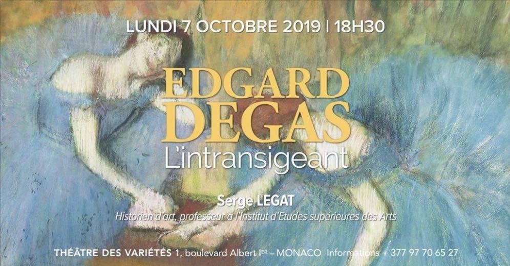 Conférence Edgard Degas, l'intransigeant par l'AMCA