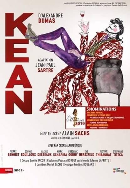 Kean : Sartre et Dumas au théâtre des Variétés