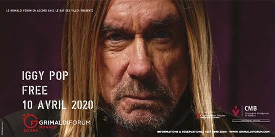 Iggy Pop Le 10 Avril Au Grimaldi Forum