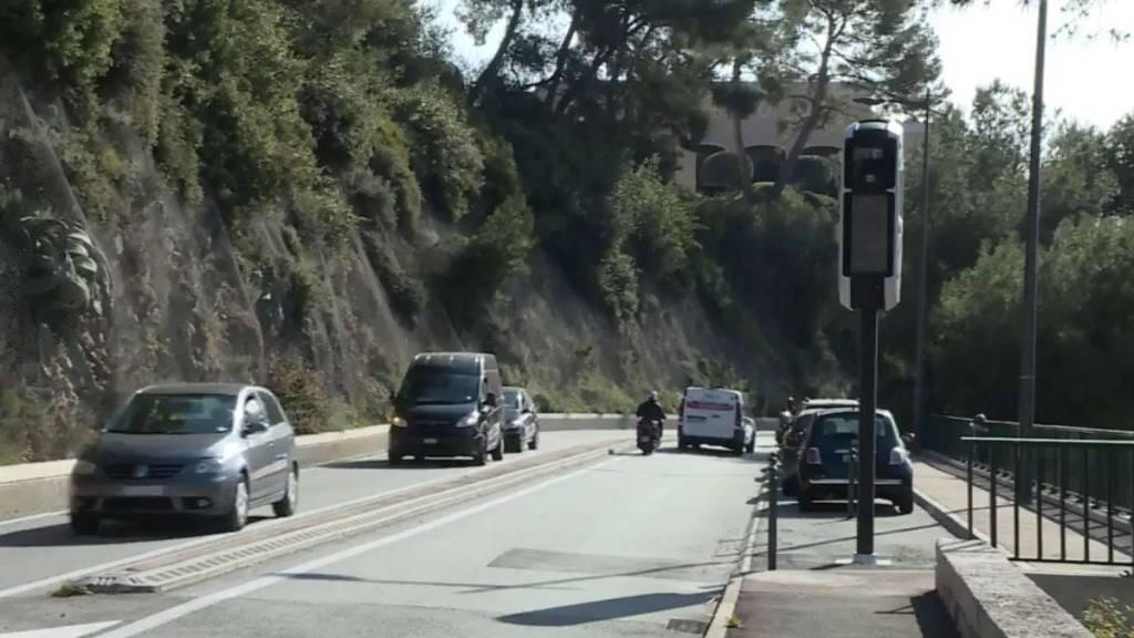 Entre Roquebrune-Cap-Martin et Beausoleil, des Radars en Série sur La Moyenne Corniche