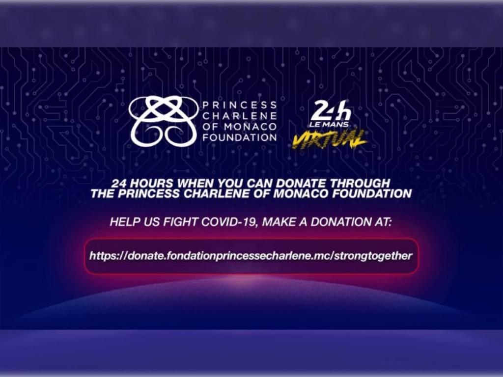 Les 24H du Mans Virtuelles et La Fondation Princesse Charlène Ensemble Contre Le COVID-19
