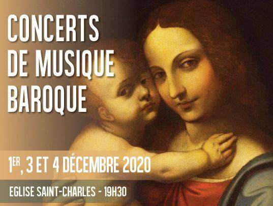 Concerts de musique baroque à l'Eglise Saint-Charles