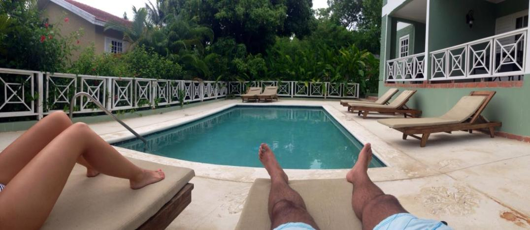 Our private pool at our villa.