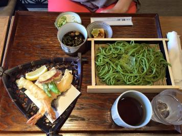 Another cold style soba noodle.