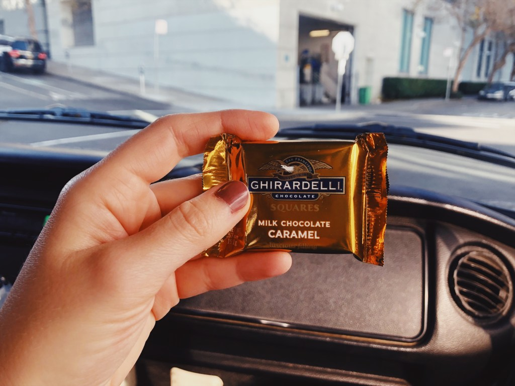 Ghirardelli Milk Chocolate Caramel - Received during VW tour from San Francisco.