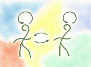 Quando duas pessoas dialogam, ocorrem ao menos 3 conversas simultâneas.