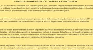 El portal de descargas Vagos.es cierra cautelarmente tras recibir una denuncia de CEDRO