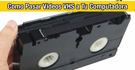 ¿Alguna vez pensaste en pasar tus videos VHS a tu ordenador? ¡Este video te enseña como hacerlo!