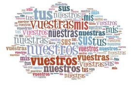 posesivos en español