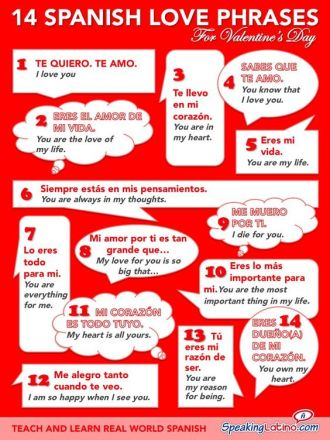 frases de amor para san valentín love phrases in spanish