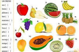 fruit names in spanish
