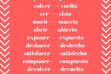 participios irregulares español