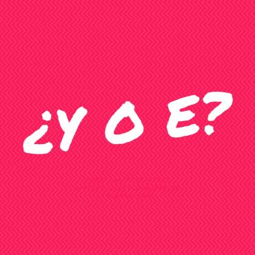 Conjunciones y o e