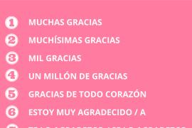 "10 maneras de decir ""gracias"""