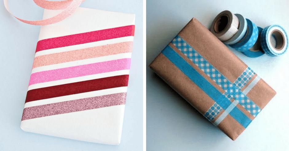 impachetare cadouri banda adeziva decorativa