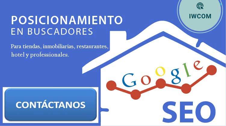 posicionamiento en buscadores para tiendas, inmobiliarias, restaurantes, hotel y professionales