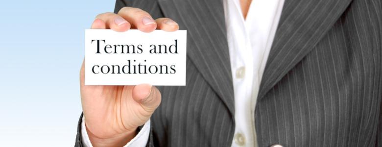 Condiciones Comerciales y del servicio