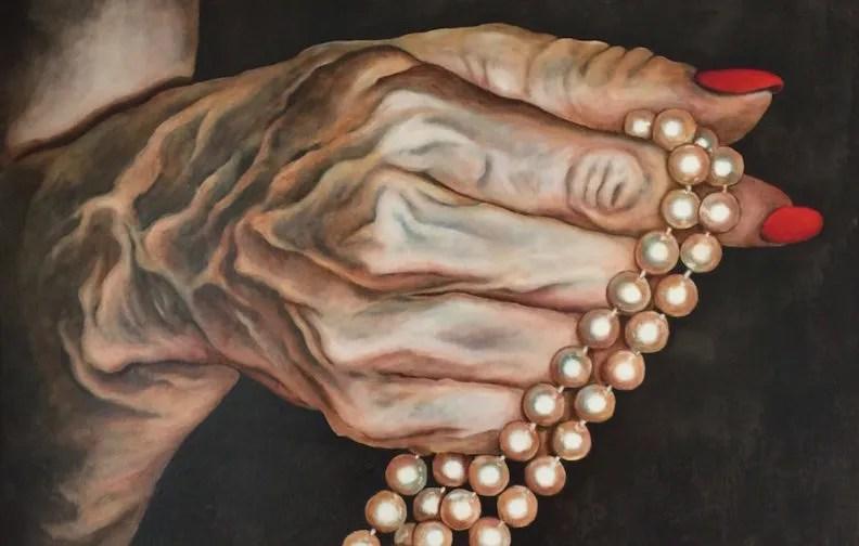 Come un rosario olio su tela 90x90 2015