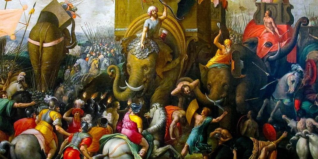 Battaglia di Zama di Giulio Romano (1499-1546)