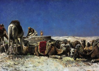 Edwin Lord Weeks. Camels beside a cistern