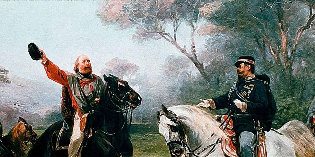 Vittorio Emanuele incontra Garibaldi presso Teano. Sebastiano De Albertis