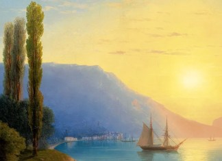 Sunset over Yalta. Ivan Aivazovsky