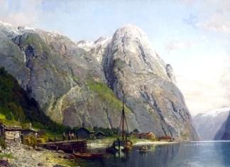 Bakka i Nerøyfjorden. Anders Askevold (1834–1900)