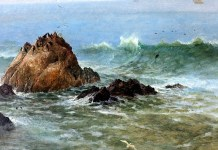 Seal Rocks, Pacific Ocean, California. Albert Bierstadt